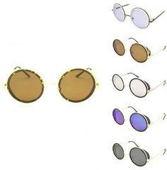 London Design Gafas de Sol Escudo Lado Redondo Steampunk Cyber Gafas