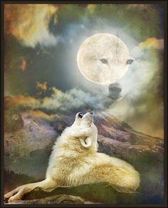 The Whimsey Asylum...: WOLF MOON... TAW's MOON CHALLENGE...