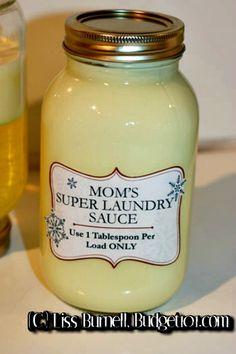 Mom's Super Laundry Sauce Detergent Recipe