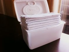 """""""Shortly after we started using cloth diapers, we realized it makes sense to use homemade cloth baby wipes as well. Cloth wipes cost less, help the environment and let us avoid the whole disposable-wipe-in-the-dryer debacle"""""""