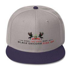 Black Unicorn Rise Up Wool Blend Snapback