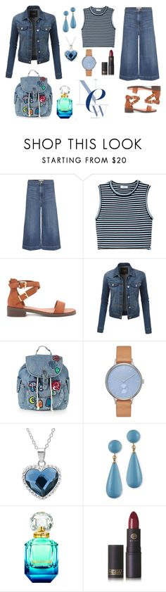 """Denim"" by adryela ❤ liked on Polyvore featuring Frame Denim, A.L.C., Forever 21, LE3NO, Topshop, Skagen, Amanda Rose Collection, Kenneth Jay Lane and Lipstick Queen"