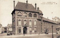 Paris 5e - Rue Claude-Bernard - L'Institut National Agronomique au carrefour des rues Claude-Bernard et de l'Arbalète, vers 1900 .