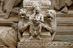 a Stone carving, Cathédral St Trophime, Arles, Provence, France