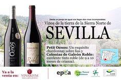 Cartel de cuando entraron en nuestra tienda las dos primeras referencias de vino de Sevilla.