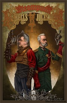 H.G. Wells vs Jules Verne | What an epic mashup match-up! Two of the most famous authors of science fiction sci-fi novels and books, in their elements, to duel it out. Brilliant!