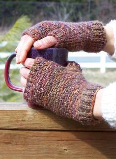 Long winter?  Malabrigo will help see you through.  Whip us these Rugged mitts from Owlcat Designs: http://www.ravelry.com/patterns/library/rugged-2