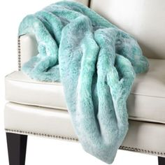 The Lazo throw used to be my favorite. And then came this one: Chinchilla Throw - Aquamarine from Z Gallerie       $149.95