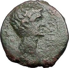 AUGUSTUS 27BC Ancient Roman Coin Greek City Amphipolis ARTEMIS on BULL i55672