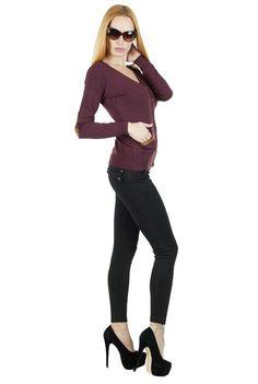 Pulover Dama Maxine  Pulover dama din material fin, moale la atingere, stil cardigan. Se inchide cu nasturi.  Detaliu - insertie de piele eco la maneci si buzunare.     Lungime: 56cm  Latime talie: 35cm  Compozitie: 30%Lana, 5%Casmir, 65%Piele Eco Cardigan, Polyvore, Image, Fashion, Moda, Fashion Styles, Fashion Illustrations