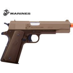 Crosman U.S. Marines SP02 Airsoft Ground Support Pistol Coyote Brown Review Buy Now
