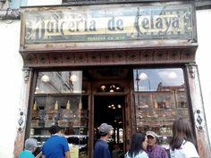 La dulcería Celaya fue fundada en el año 1874, mismo en el que abrió sus puertas al público. Solía estar ubicada en la antes calle Plateros, conocida hoy como Madera, y actualmente está localizada en la calle 5 de mayo número 39, Col. Centro en la Ciudad de México. El letrero que anuncia el nombre se conoce como el más antiguo del Centro Histórico.