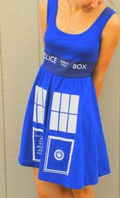 Cute Dr. Who dress for the geek girl!