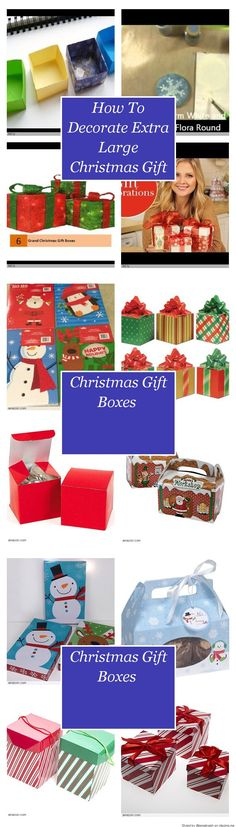 How To Decorate Extra Large Christmas Gift Boxes