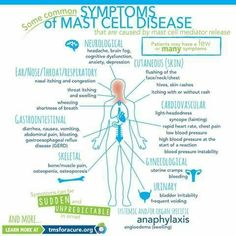 mast cell activation syndrome symptoms
