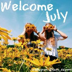 WELCOME JULY...... ~follow me on instagram @lauri_sayumi #summer #verano #julio #july #girls #amigas #friends #flowers #garden #flores #yellow #amarillo