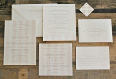 Kristine Wedding Invitation Suite with Stripes Bow and by lvandy27