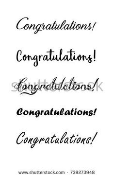 Find Congratulations Lettering Calligraphy Handwritten Phrase stock images in HD and millions of other royalty-free stock photos, illustrations and vectors in the Shutterstock collection. Handwriting Alphabet, Hand Lettering Alphabet, Calligraphy Handwriting, Hand Lettering Quotes, Penmanship, Hand Lettering For Beginners, Hand Lettering Tutorial, Congratulations Cake, Lyrics