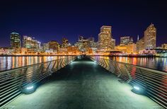 San Francisco Pier 14 on a clear night by Mike Ronnebeck on 500px