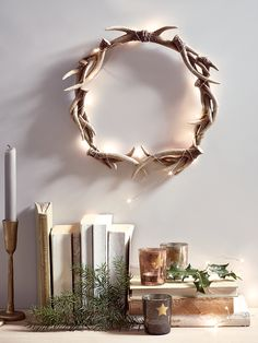 NEW Faux Antler Wreath - Christmas