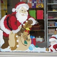 D coration de vitrine de no l reine des neiges - Peindre sur une vitre ...