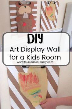 $100 Room Challenge - Art Display Wall for Kids