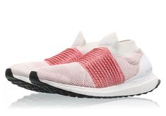 adidas Ultra Boost Laceless - Footwear White/Trace Scarlet