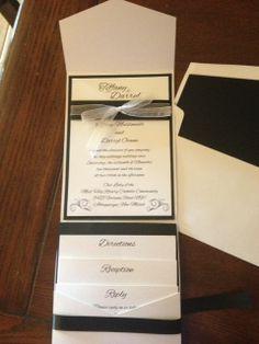 Black & White Wedding Invitations are always elegant. Differently Designed custom wedding invitations New Mexico - Differently Designed Invitations and Stationery Albuquerque www.differentlydesigned.com/