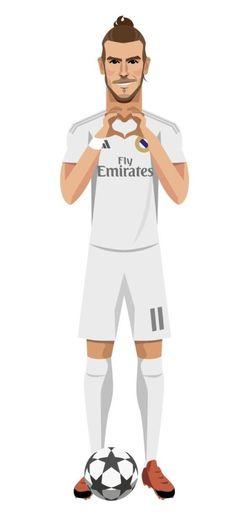 Piłkarz Realu Madryt w niecodziennej wersji • Gareth Bale w wersji rysunkowej cieszy się ze zdobytego gola • Wejdź i zobacz więcej >> #bale #garethbale #real #realmadrid #football #soccer #sports #pilkanozna #futbol