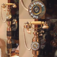 It's not a #crystal but it sure is a #gem ! Somebody around here said she wanted to change her relationship with the telephone. THIS is how the universe responded!  Just goes to show - you never can tell what will happen when you open yourself to infinite possibilities!  #antique #telephone #surprise #score #brass #old #design #interior #homedecor #saltspringisland #chemainus #vancouverisland #explorebc