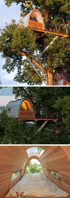 DIY Tree House Ideas & How To Build A Treehouse (For Your Inspiration) Modern treehouse I wouldn't mind having in my backyard some day [ Wainscotingamerica.com ] #backyard #wainscoting #design<br> How To Build A Treehouse ? This Tree House Design Ideas For Adult and Kids, Simple and easy. can also be used as a place (to live in), Amazing Tiny treehouse kids, Architecture Modern Luxury treehouse interior cozy Backyard Small treehouse masters