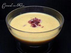 Receta Crema de calabacin y jamón serrano (thermomix) para cocinando con kisa