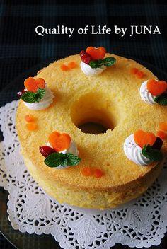 JUNA『ふわふわキャロットシフォンケーキ』