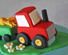 How to Make a Tractor Cake Topper by rosebakes via cake journal