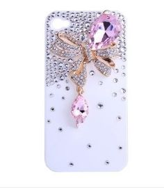 Amazon.com: Matek: 3D Bling Pink Crystal Rhinestone Butterfly Bow Case Cover for Apple IPhone 4/4S: Cell Phones & Accessories $9.93