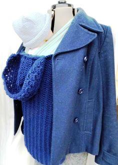 Love the hood for the baby :) Crochet Babywearing Coat Extender £30.00