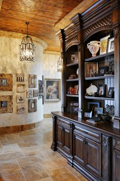 cabinetry in the gallery