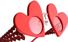 Sharing the newest styles and colors of eyeglasses and sunglasses from around the world. Heart Sunglasses, Ray Ban Sunglasses, Prada, Saint Valentine, Valentines, Eyes Wide Shut, 70s Fashion, Fashion Tips, Cheap Ray Bans