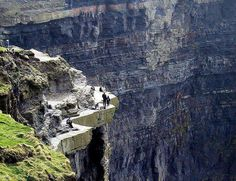 A nice walk on the cliffs of Moher, County Clare, Ireland. One of my favorite places I have been to. Places Around The World, Oh The Places You'll Go, Places To Travel, Places To Visit, Travel Destinations, Weekend City Breaks, County Clare, Cliffs Of Moher, Voyage Europe