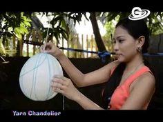 DIY ( Do It Yourself ) - Yarn Chandelier - YouTube