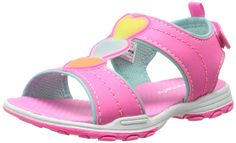 carter's Sparkly Light Up Heart Detail Sandal (Toddler/Little Kid) ** Check this awesome image  : Girls sandals