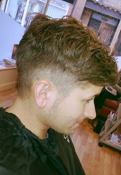 Previously flat lank hair, with a simple permanent wave you can achieve the look your after! Mens hair