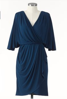 Draped Dress by Coldwater Creek