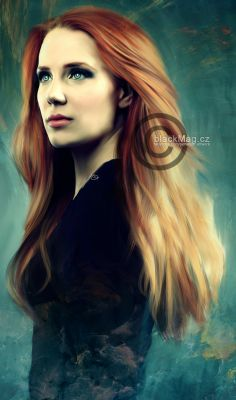 Simone Simons (Epica) Digital painting. Full view on www.artwork.blackmag.cz