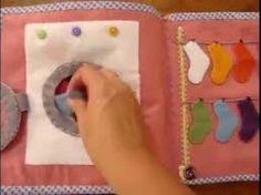 Resultado de imagem para como fazer um livro sensorial de tecido