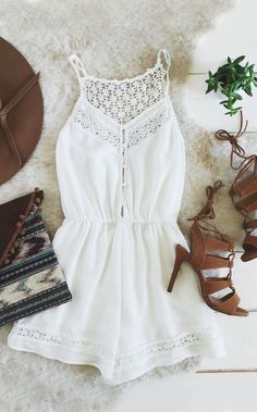 df24e3638a0e Spring collections White Romper Outfit