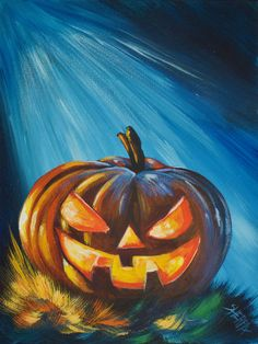 Beginners learn to paint full acrylic art lesson for your Halloween fun a Jack-O-lantern glowing in the Night grass.  Easy Glowing eyes . This is a Step by step you can paint at home. 13 days of Halloween  Traceable : https://theartsherpa.com/tas171002.01  Join me from Oct 1st to Oct 13th Live for all the Spooky Oooky art   to see the full schedule https://theartsherpa.com/sherpahalloween TAS171002.01s2