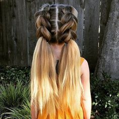 pull through double-braid pigtails