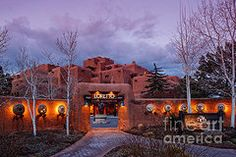 New Mexico Art - The Inn at Loretto at Twilight - Santa Fe New Mexico  by Silvio Ligutti