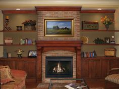 TV over brick fireplace   more help needed with fireplace design, pictures included! - Home ...